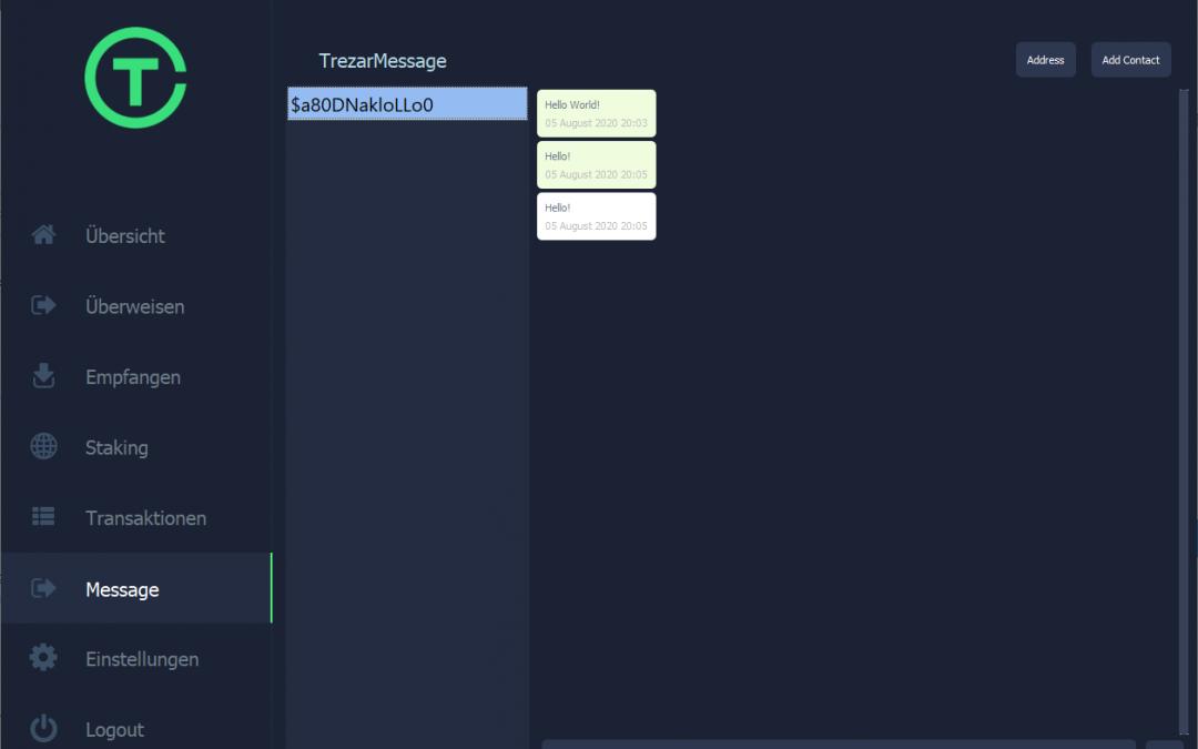 TrezarMessage – Trezarcoin 2.1